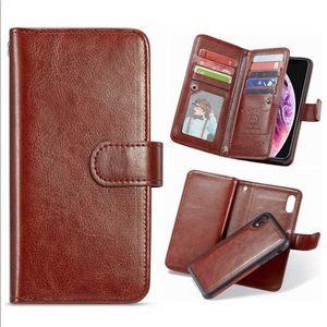 Other - iPhone XR Phone Case with 8 card slot & wristlet